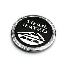 Black Aluminum 3D Trail Rated 4x4 Logo Emblem Car Sticker Badge For Off Road SUV