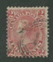 "CANADA #20 USED 4-RING NUMERAL CANCEL ""45"""