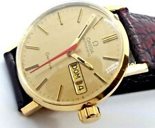 Omega Watch 750 Gold 18K Genève Swiss Automatik DayDate Herren-Uhr