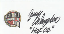 Jerry Colangelo NBA HOF 2004, owned the Phoenix Suns SIGNED 3x5 CARD