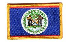 Toppe Toppa PATCH BELIZE 7x4,5cm  Bandiera banderina ricamata termoadesivo