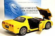 FRANKLIN MINT 2003 CORVETTE ZO6 C5 HARDTOP YELLOW COUPE B11C474 ANNIVERSARY 50th
