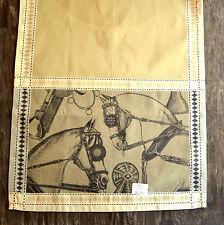 "Le Jacquard Francais Manege Sand Table Runner, 22 x 59"" - Tan Horse Theme"