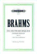 Johannes Brahms Ein deutsches Requiem Noten Klavierauszug Edition Peters 3672