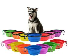 Dog Bowl Folding Collapsable Water Travel Pet Food Collapsible Portable Dish