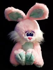 Vintage Fairview Pink Bunny Rabbit Girl Plush Stuffed Blue Green Ears, Paws