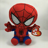 """TY Beanie Baby 6"""" SPIDER-MAN Spiderman Marvel Plush Animal Toy w/ Ty Heart Tags"""