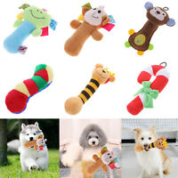 Pet Dog Soft Plush Cartoon Sound Squeaky Bear Puppy Bite Chewing Crutch Squeaker