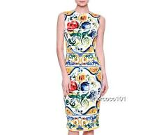 Dolce & Gabbana Floral Print Dress, UK10 IT42 Authentic New
