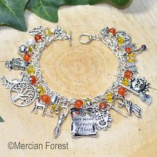 Rule of Three Wiccan Charm Bracelet - Carnelian - Pagan Jewellery, Wicca, Witch