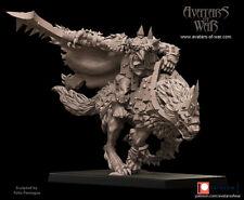 Avatars Of War 3D Printed miniature Gobelin sur loup 1