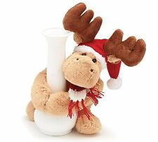 Burton Christmas Moose Plush Stuffed Bottle / Vase Hugger