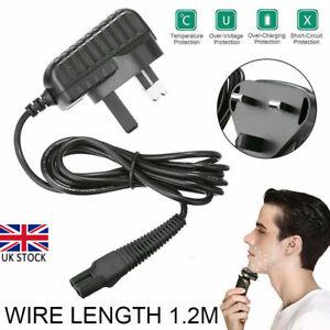 12V UK Plug Shaver Power Lead Razor Charger Fit For Braun Epilator Silk Epil 5&7