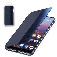 GENUINA Huawei P20 Pro Inteligente Vista Flip Funda Cartera Hibernación - Azul