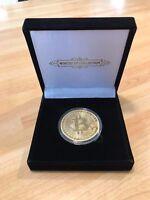1x Rare Bitcoin Collectible gift In Stock Golden Iron Commemorative Coin Gifts
