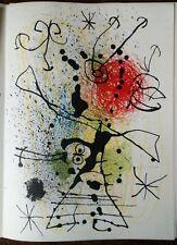 Lithos originales Miro Ubac - DLM n° 155 décembre 1965 - Fondation Maeght