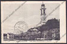 NOVARA CASALVOLONE 07 CASTELLO Cartolina viagg. 1931 Ed. SOZZI MEDE