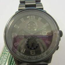 CITIZEN ECO-DRIVE MEN'S WATCH CHRONO NIGHTHAWK ALL S/S IP BLK CA0296-58E NEW
