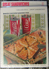 Vintage 1970'S Coca Cola adds life to..Recipe Card #2 NIP