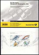 Bund Markenheftchen 47 ** Sporthilfe 2002 Olympische Winterspiele  postfrisch