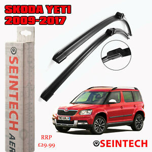 SKODA YETI 2009-2017 SPECIFIC FIT FRONT AND REAR WIPER BLADES + PLASTIC ARM