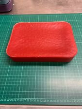 1.9kg RED UNSCENTED CANDLE WAX,wicks and basic instructions