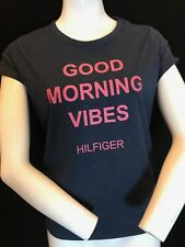 "Tommy Hilfiger Women's ""good Morning Vibes Hilfiger"" Tee Size S Gift Idea"