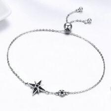 925 Sterling Silver Star Fashion Bracelet Slide Adjustable For Women Jewelry