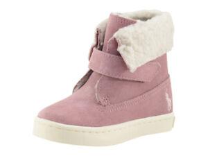 Polo Ralph Lauren Toddler Girl's Siena Pink Booties Shoes