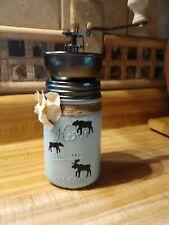 Kerr Mason Jar Moose Coffee Grinder Handmade Unique Country Kitchen