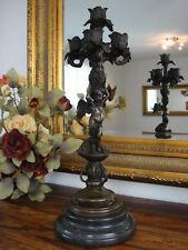 Kerzenleuchter Engel Bronze Marmor Kandelaber Antik Edel Luxus Kerzenständer NEU