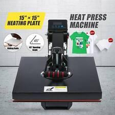 Clamshell Heat Press Machine 1000w T Shirt Press W Heat Pad Transfer Paper