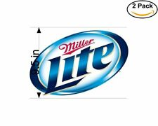 Miller Lite Beer  2 Stickers 9.5 Inch Sticker Decal