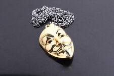 Hot V FOR Vendetta Anonymous Movie Pendant Chain Necklace Fashion Free Shipping