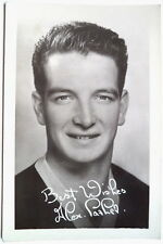 ALEX PARKER FALKIRK, EVERTON & SCOTLAND 1956 FOOTY CARD