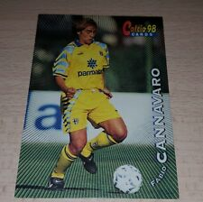 CARD CALCIATORI PANINI 98 PARMA CANNAVARO CALCIO FOOTBALL SOCCER ALBUM