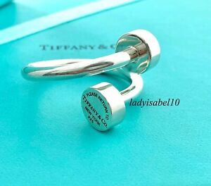 Return To Tiffany & Co Overlap Key Ring Chain Keychain Keyring Sterling Silver D