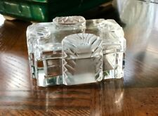 Vintage Lalique Crystal Boite Corfu Lidded Cigarette Box in Mint Condition