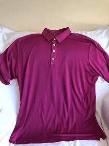Adidas Mens XXL Pink Climalite Polo Golf Shirt