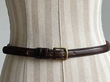Vintage Coach Leather Belt 30� Dark Brown Made In Nyc 3/4� Brass Buckle 1970's