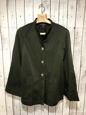 St. John Women's Large Dark Green Gold Button Jacket!