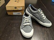 NIB Sperry Striper II Llt Grey Boy's Shoes 5