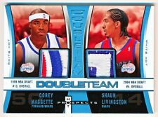 2006-07 Hot Prospects Corey Maggette Shaun Livingston Double Team Patch (08/10)