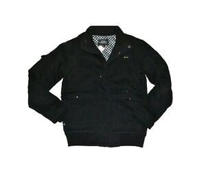 Matix CRIMSON Black Checkered Lined Inside Snap Button Zip Up Men's Jacket