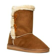 Womens Calf Boot Toggle Features in Chestnut by Lilley Size UK 3,4,5,6,7,8,9