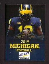 Michigan Wolverines--2019 Football Pocket Schedule--IBEW 252