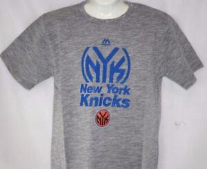 NEW Mens MAJESTIC NBA New York NY Knicks Grey Big & Tall Basketball Tee T Shirt