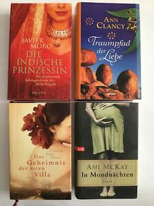 4 Bücher Romane gebunden Bücherpaket