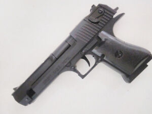 New Souvenir Jet Flame Pistol Gun Gas Lighter Desert Eagle With Holster + Stand