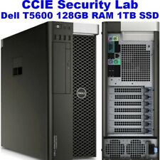 Cisco CCIE Security Virtual Lab INE Dell T5600 128GB RAM 1TB SSD ISE ASA FTD FMC